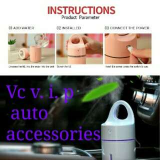 Car Humidifier Aroma Diffuser can add esstion oil