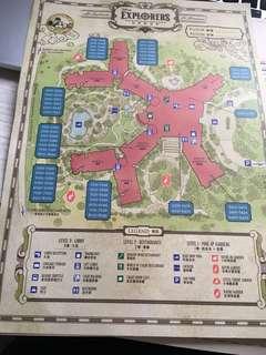 迪士尼探索家度假酒店 地圖