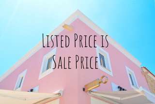 LISTED PRICE IS SALE PRICE