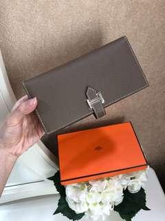 Like New Hermes Bearn Wallet in Eutope Epsom PHW