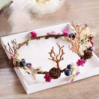 Handmade forest berries crowns #Easter20