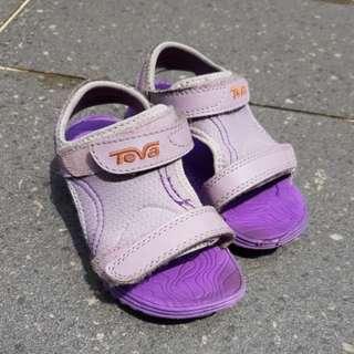 30469f86fcaa5 Teva Purple Kids sandals for 4-5 yo 16cm insole
