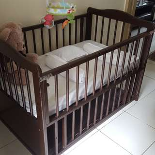 Brown Wood Crib
