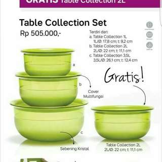 table collection Tupperware