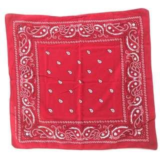 🌴70s美國復古老方巾 紅色領巾 男女皆可Vintage 美式古著