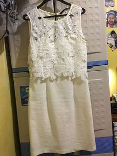 For Me white formal dress used twice