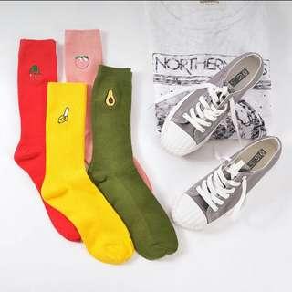 <PO> Fruits long socks