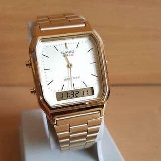 Casio aq-230 gold