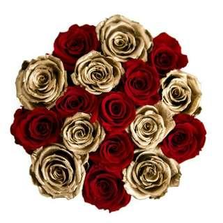 Premium gold roses