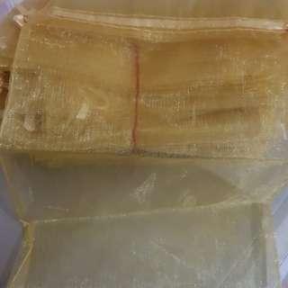 30 yellow Organza bag