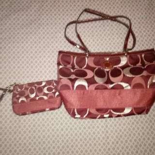 Coach bag and purse