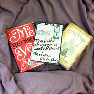 Me before you. Perks of being a wallflower. The book thief. Novel import bekas.