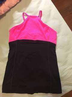 Lululemon black/ pink top
