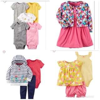 12M Baby Girl Items Readystock