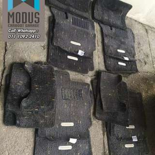 Carpet kaki toyota passo racy tag besi for myvi