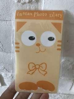 Instax photo diary Cat design