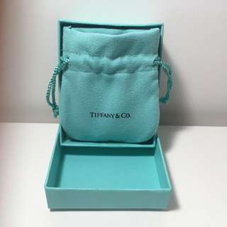 Authentic Tiffany.Co Jewelry Box & Pouch