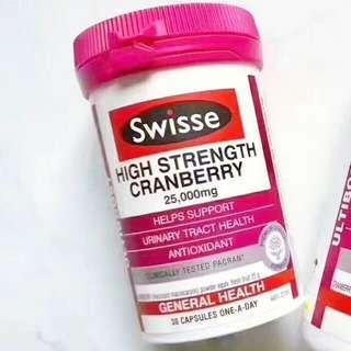 【現貨】澳洲Swisse High Strength Cranberry蔓越莓30粒/90粒