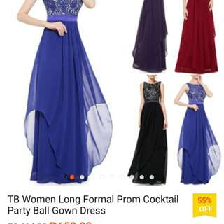 TB Long Formal Prom Cocktail Party Ball Gown Dress
