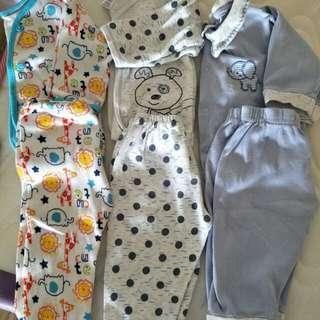 3sets Newborn sleeping suits