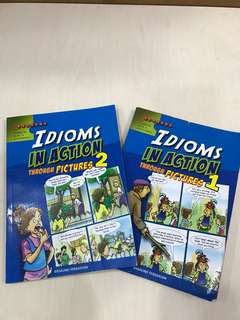 Idioms In Action Through Pictures (Book 1 & 2)