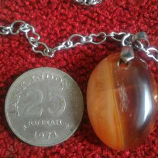 Loket Sulaiman necklace & old coin