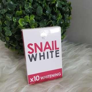 Sabun pemutih snail white glutathione whitening 10x