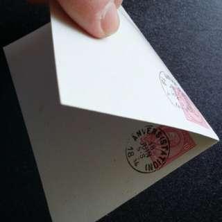 [lapyip1230] 比利時王國複式明信片 1894年 發信片/回信片 齊全 - 少見美品