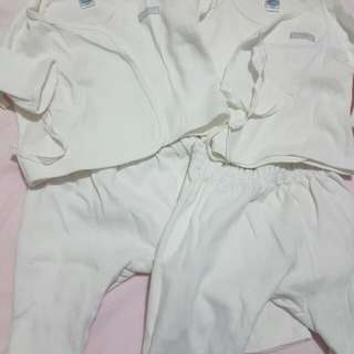 3 sets Enfant Baby pajamas with long sleeve side ties