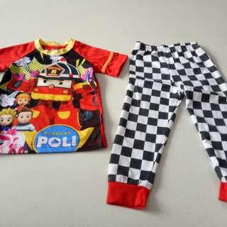Boy Robocar Poli set / Pyjamas (for 2yrs old)