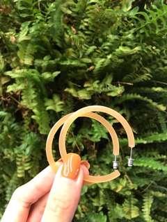 🚚 圓圈耳環 c字耳針款 韓國購入 二手
