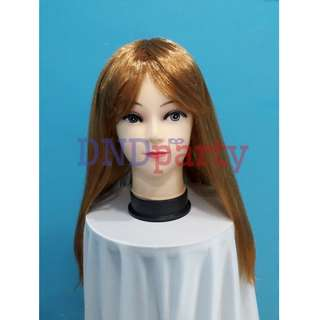Mid Long Straight Light Brown Wig