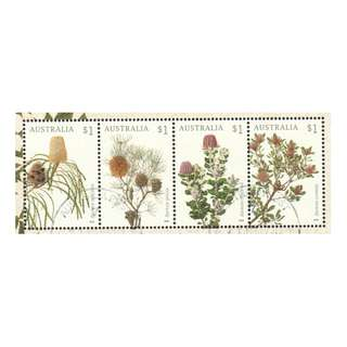 AUSTRALIA 2018 BANKSIAS FLOWERS SE-TENNAT OF 4 STAMPS IN FINE USED CONDITION