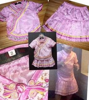 Cheongsam blouse & skirt