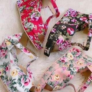 Mavis Tiffany Floral Wedge
