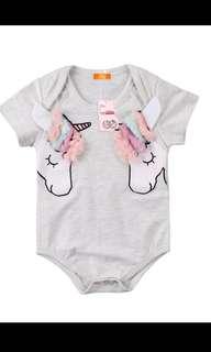 Baby Unicorn Romper Top Girl