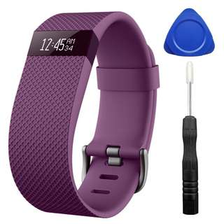 DigiHero Adjustable Replacement Accessories Straps for HR Charge Fitbit/Fitbit Charge HR 1/Fitbit Charge HR (Purple)