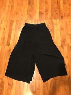 Zara black pleats pants