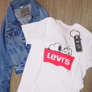 New/ levis x snoopy tee nike