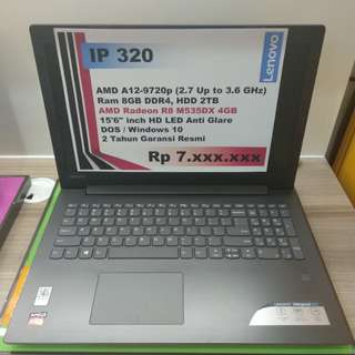 Kredit Laptop Lenovo IP320 Amd A12 Free 1x Cicilan