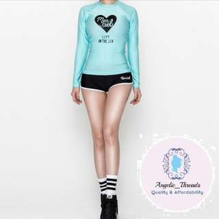 (Ready Stock KL) Swimming Suit Swimsuit Woman Swimsuit Swimwear Beachwear Long Sleeve Korean Swimsuit