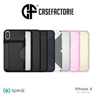 Speck iPhone X Presidio Clear Show Wallet Glitter