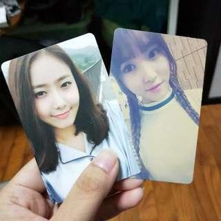 Gfriend Sinb yuju LOL photocards