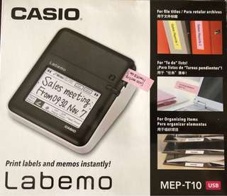 Casio Labemo Touch Panel & PC-Connectable Label Printer MEP-T10