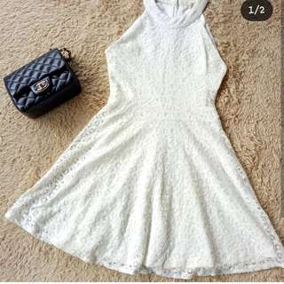 White Lace Dress (Halter Neck)