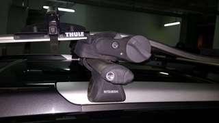 Mitsubishi grandis Thule car mount + Thule Proride 591 bicycle mount
