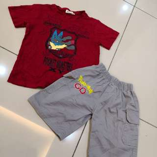 Pokemon Set Shirt & Pants (5-6y)