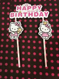 Birthday Party Decoration Hello Kitty Cake Topper