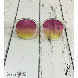 Gradient sunglasses in sunrise, sunset, cotton candy and coffee