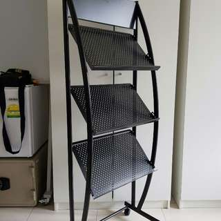 Magazine Stand (3 tier metal magazine stand)